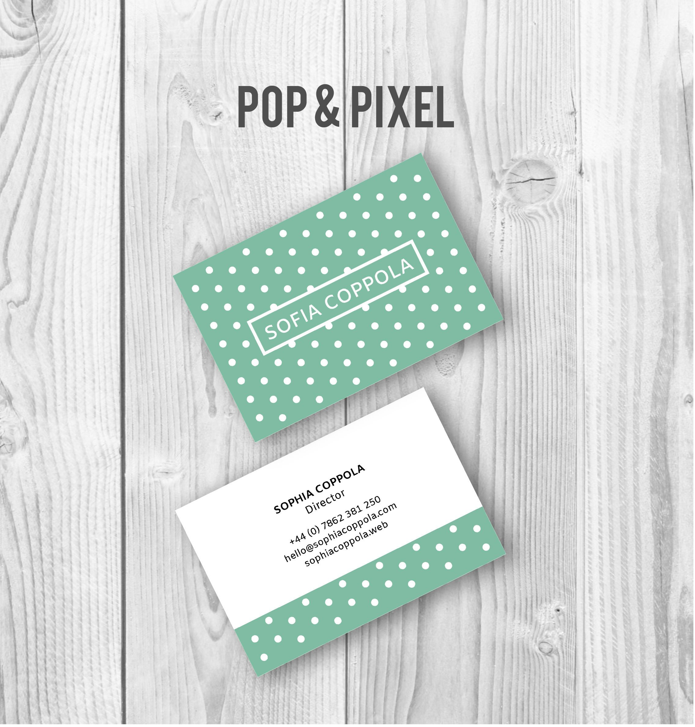 Polka Dot Business Card | Creative bits n\' bobs | Pinterest ...
