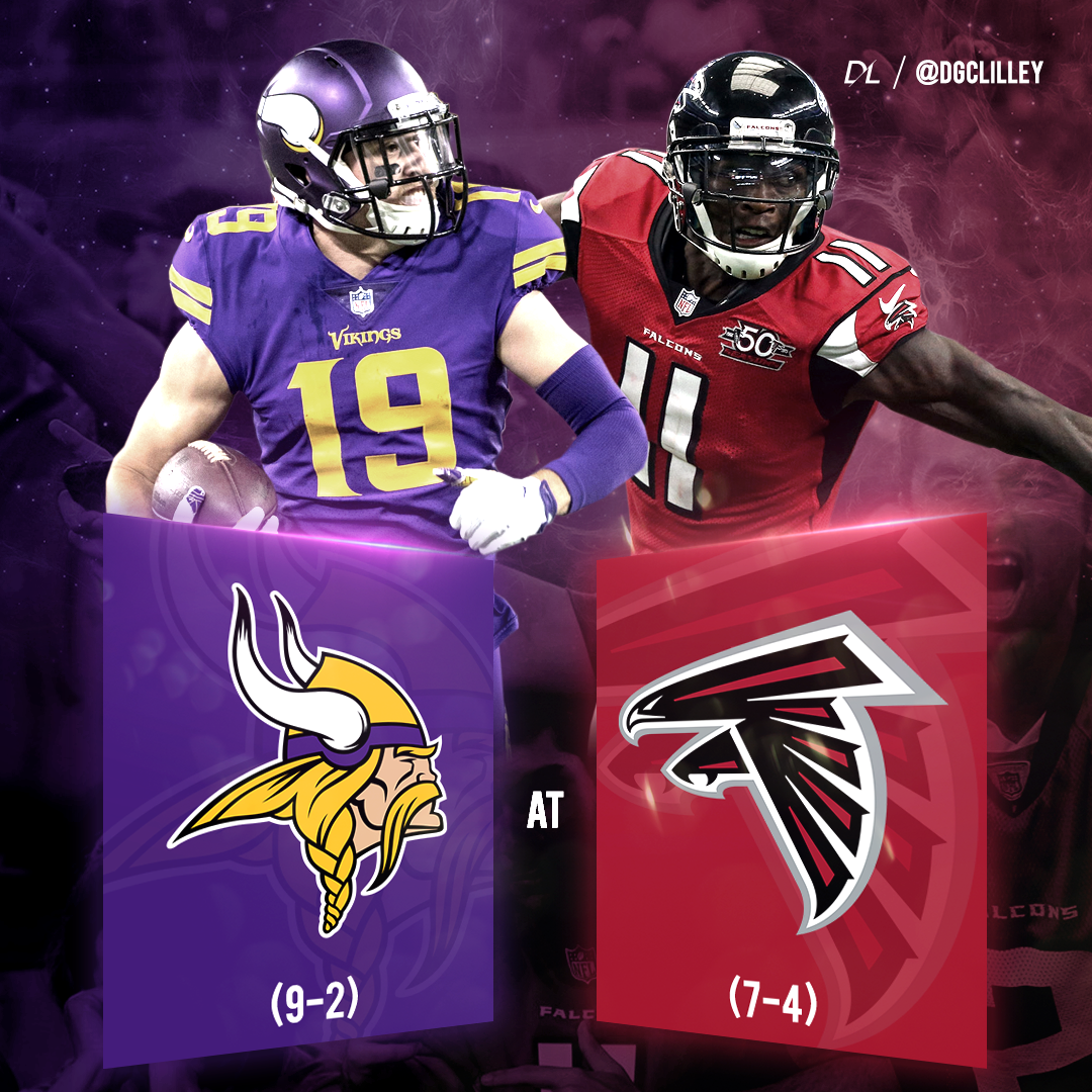 Vikings Falcons 2017 Sports Design Nfl Matchups Football Conference