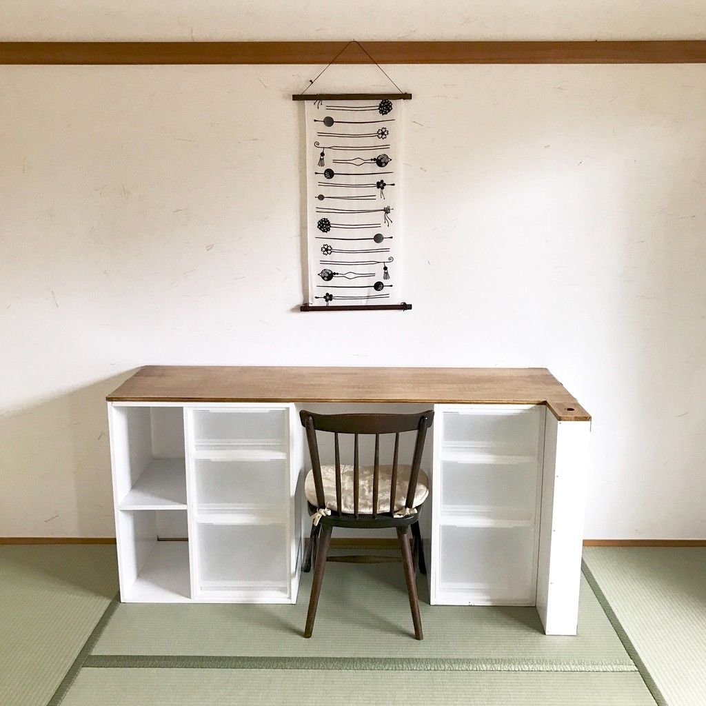 Photo of 【初心者DIY】無印良品のPP収納ケースで、絶対にホコリがたまらない机を作ってみた