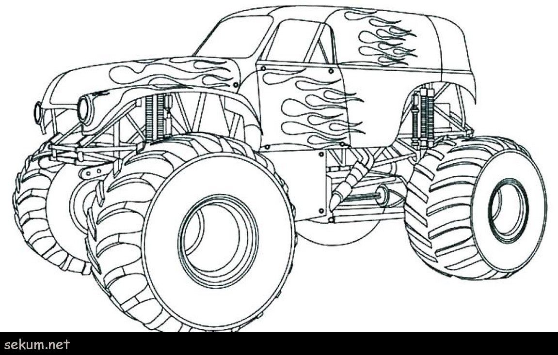 √ Easy Dragon Monster Truck Coloring Pages