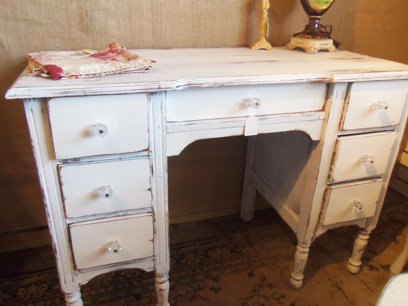 Cottage Beach House Project 10 Of 2012 Distressed Desk Distressed Desk White Distressed Desk White Desk Diy