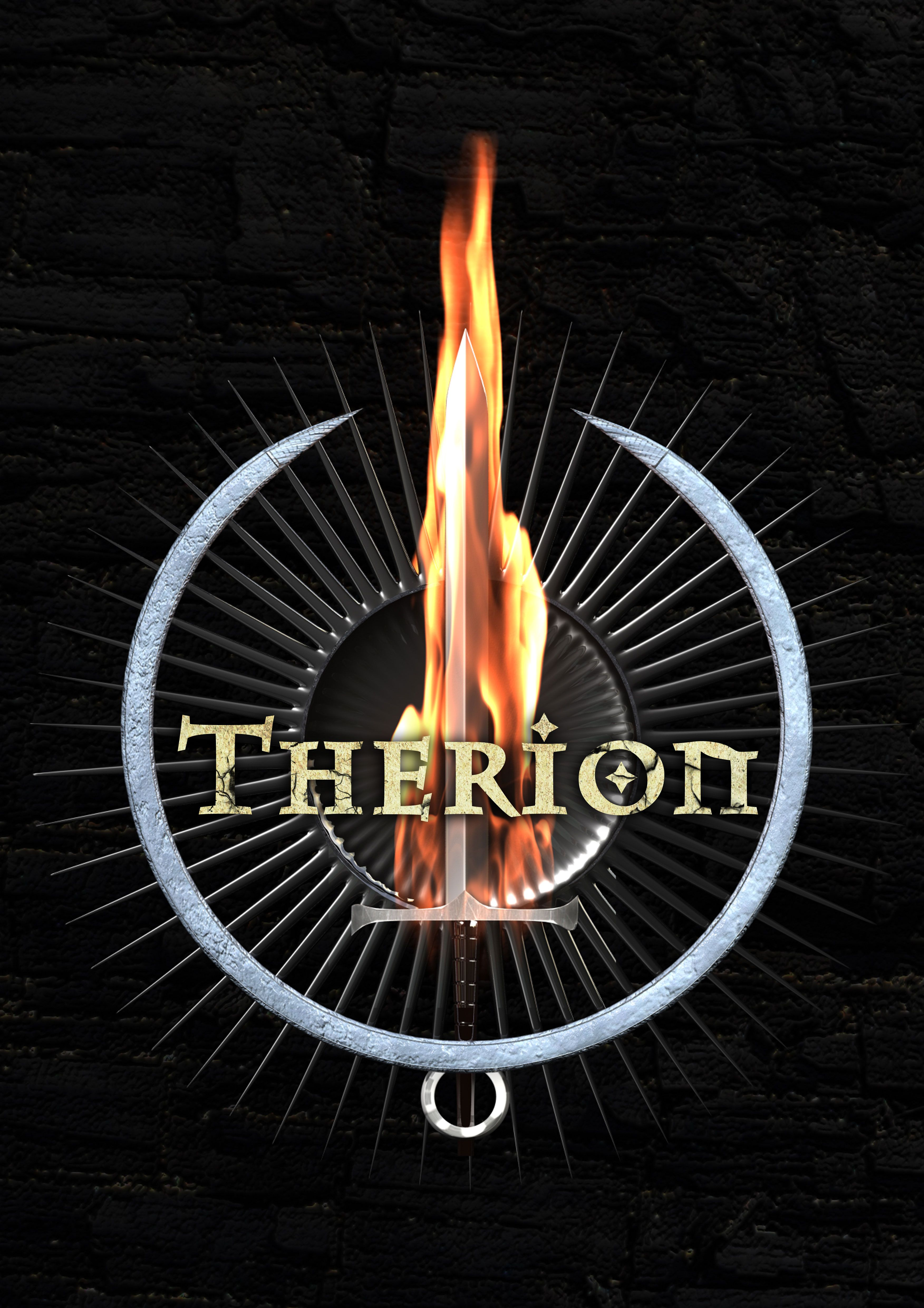 3D modeling of the old logo of the metal band Therion