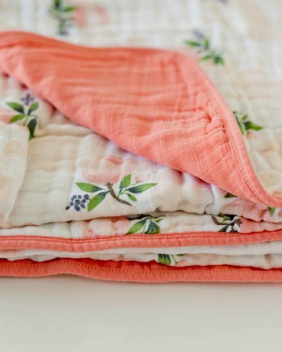Little Unicorn Cotton Muslin Quilt Watercolor Roses
