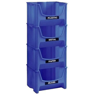 United Solutions SB0028 11.5-Gallon Blue Indoor Garbage Can | *Waste ...