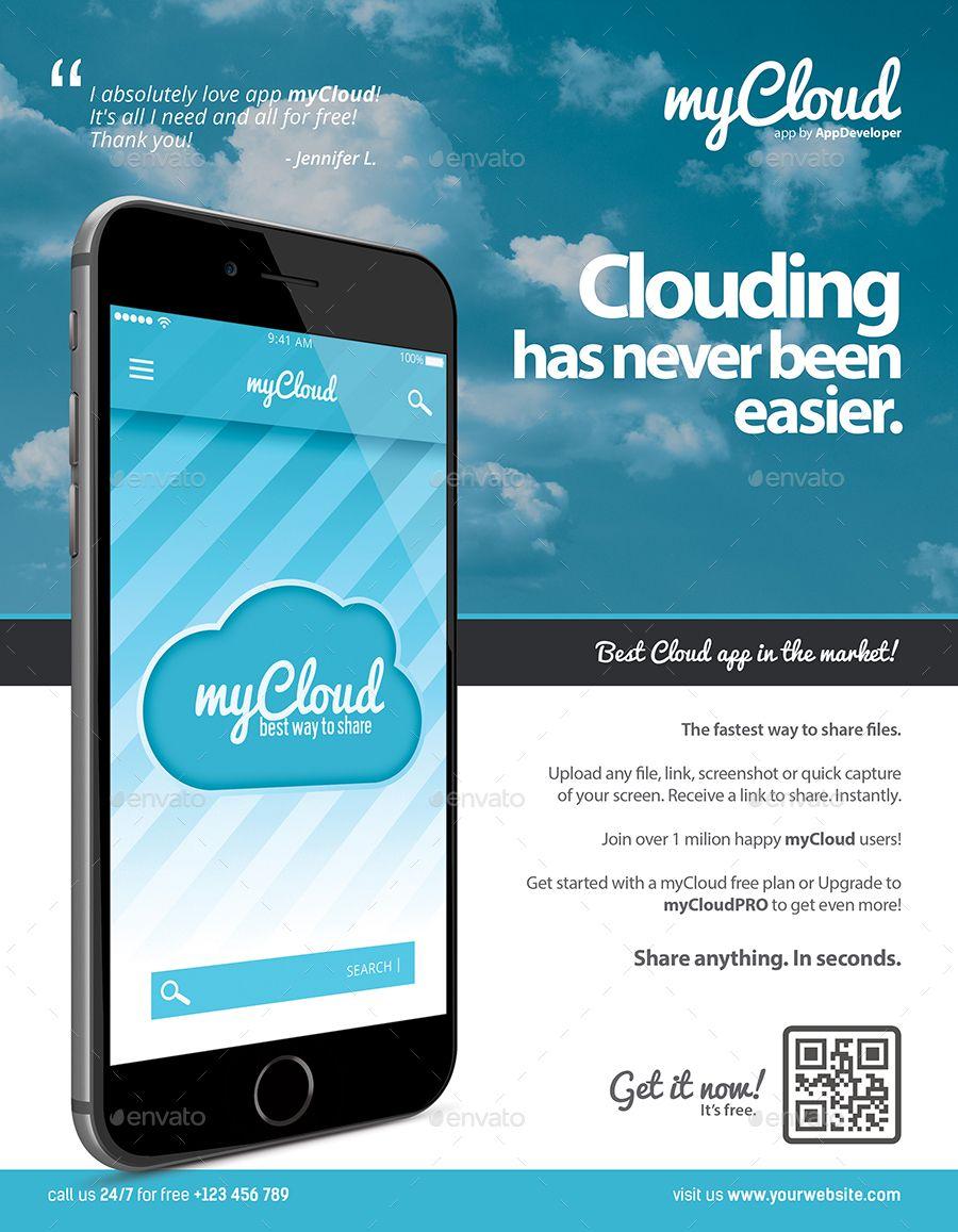 mobile app flyers template 12 flyers pinterest flyer template
