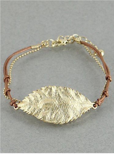 Womens Bracelet   Shop By Style Leaf Charm Leatherette   - Metal Works   8 Inch   Matte Gold-brown Hail Mary Gifts,http://www.amazon.com/dp/B00ESK2FZQ/ref=cm_sw_r_pi_dp_wGnksb0JCXMTNRW6