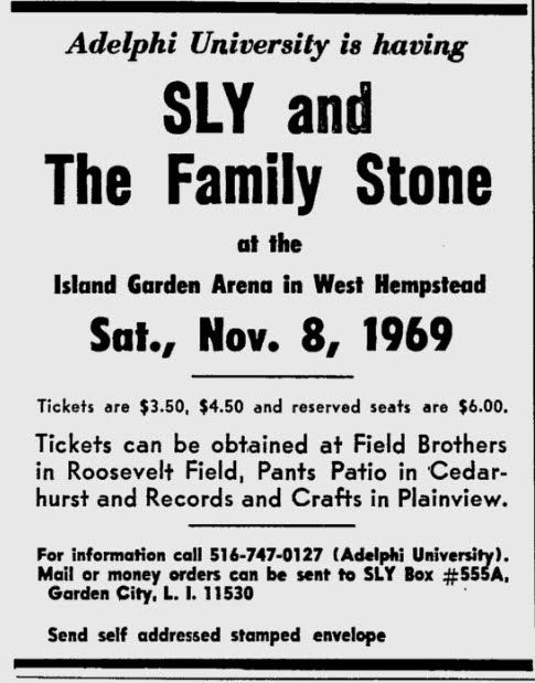 8.11.1969; sly & the family stone; usa, west hempstead