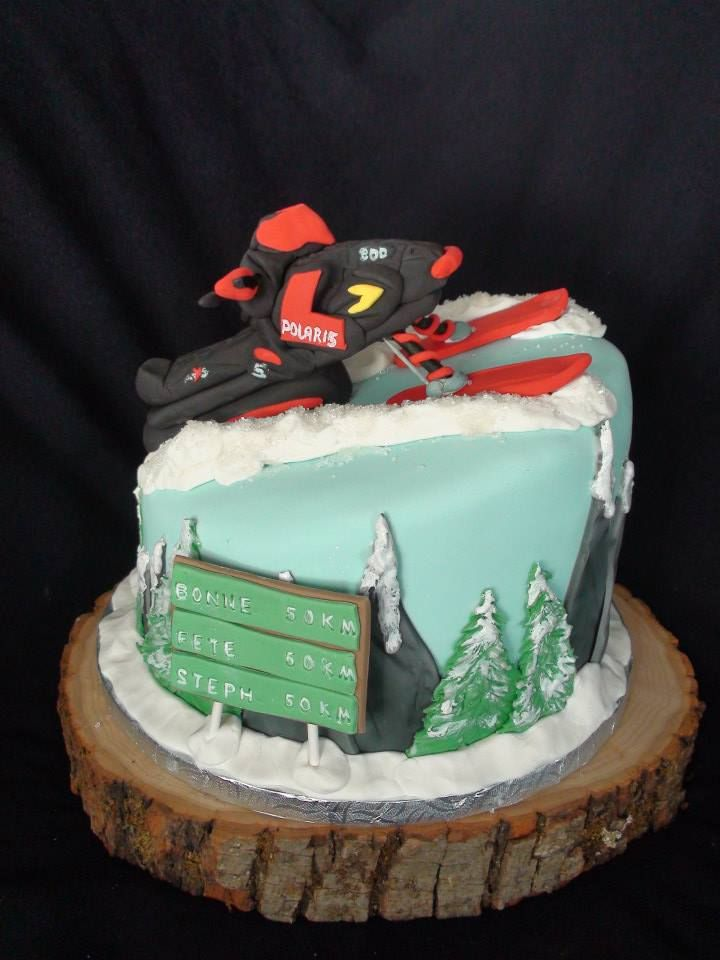 Snow Mobile Ski Doo Cake Creation Maman Gateau