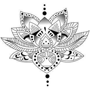 Modification sur le lotus oriental d j existant dessins - Dessin oriental a imprimer ...