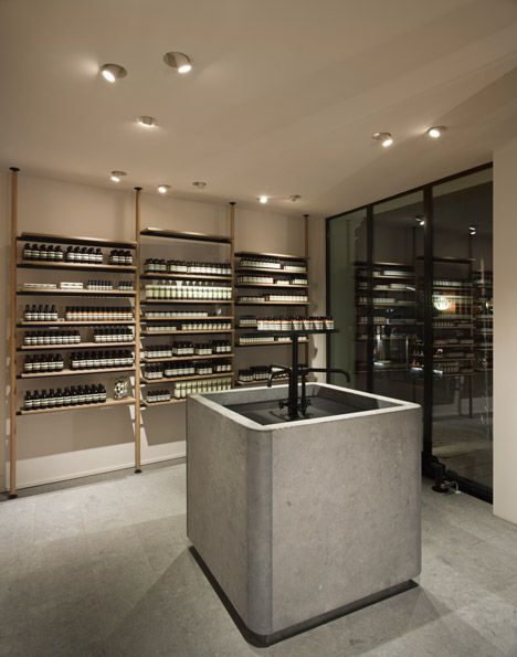 Vincent Van Duysen Architects fits Aesop\'s Hamburg store with a ...