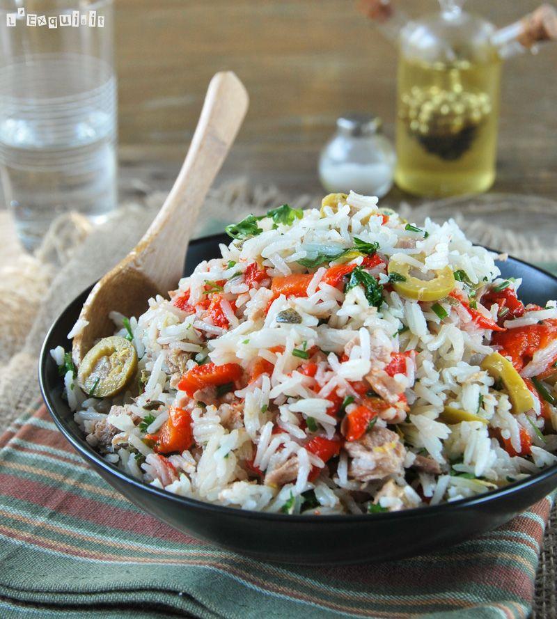 Ensalada de arroz con at n y pimientos asados rizotto - Ensalada de arroz y atun ...