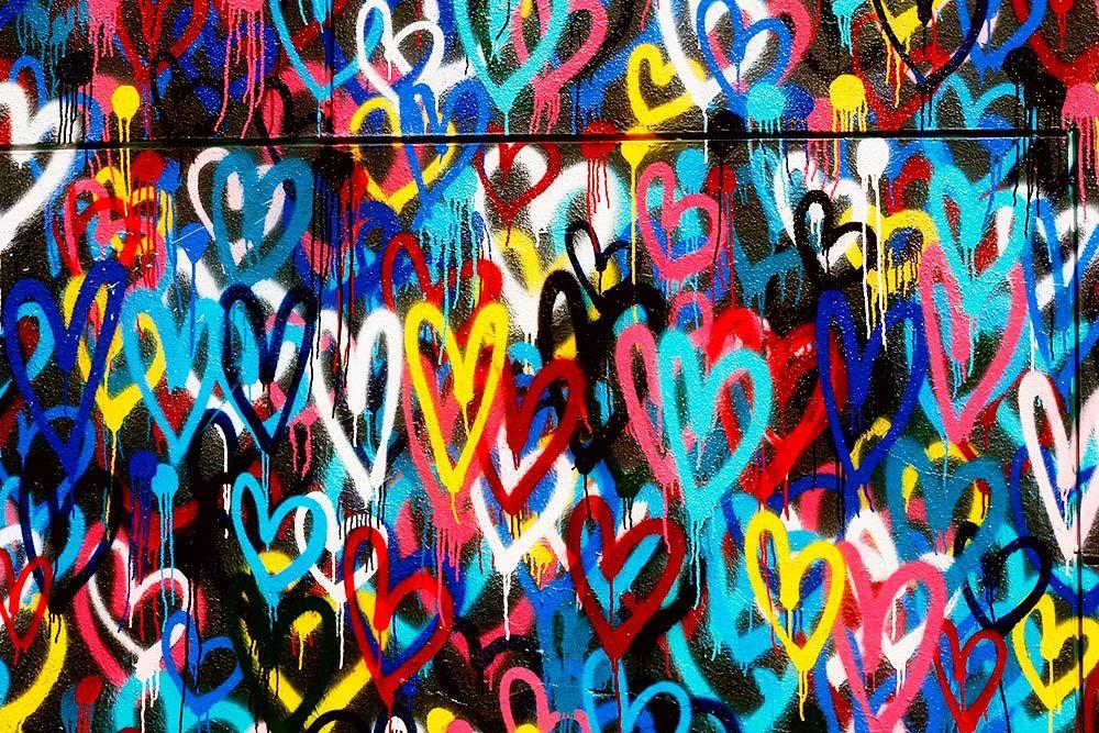 Bleeding hearts wall soho nyc street art photos by me for Mural on broome street