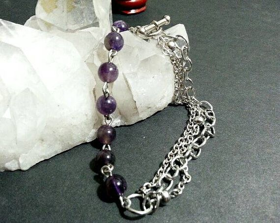 Check out this item in my Etsy shop https://www.etsy.com/listing/480531492/amethyst-multi-strand-chain-and-link