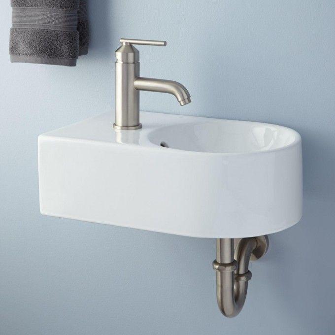 Corrie Mini Porcelain Wall Mount Bathroom Sink