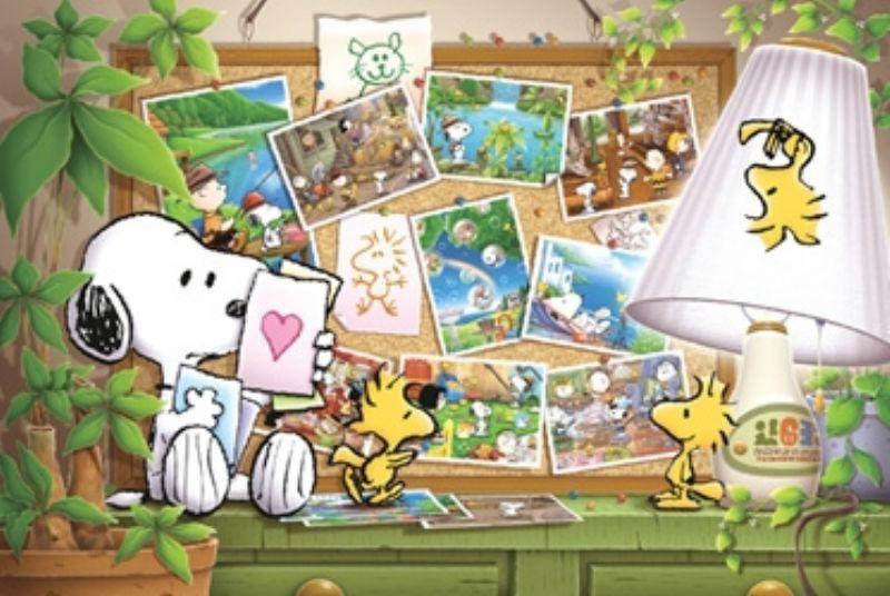 ◆希少品◆1000ピースジグソーパズル:スヌーピー 想い出を抱きしめて《廃番商品》 - 組絵門(くみえもん)