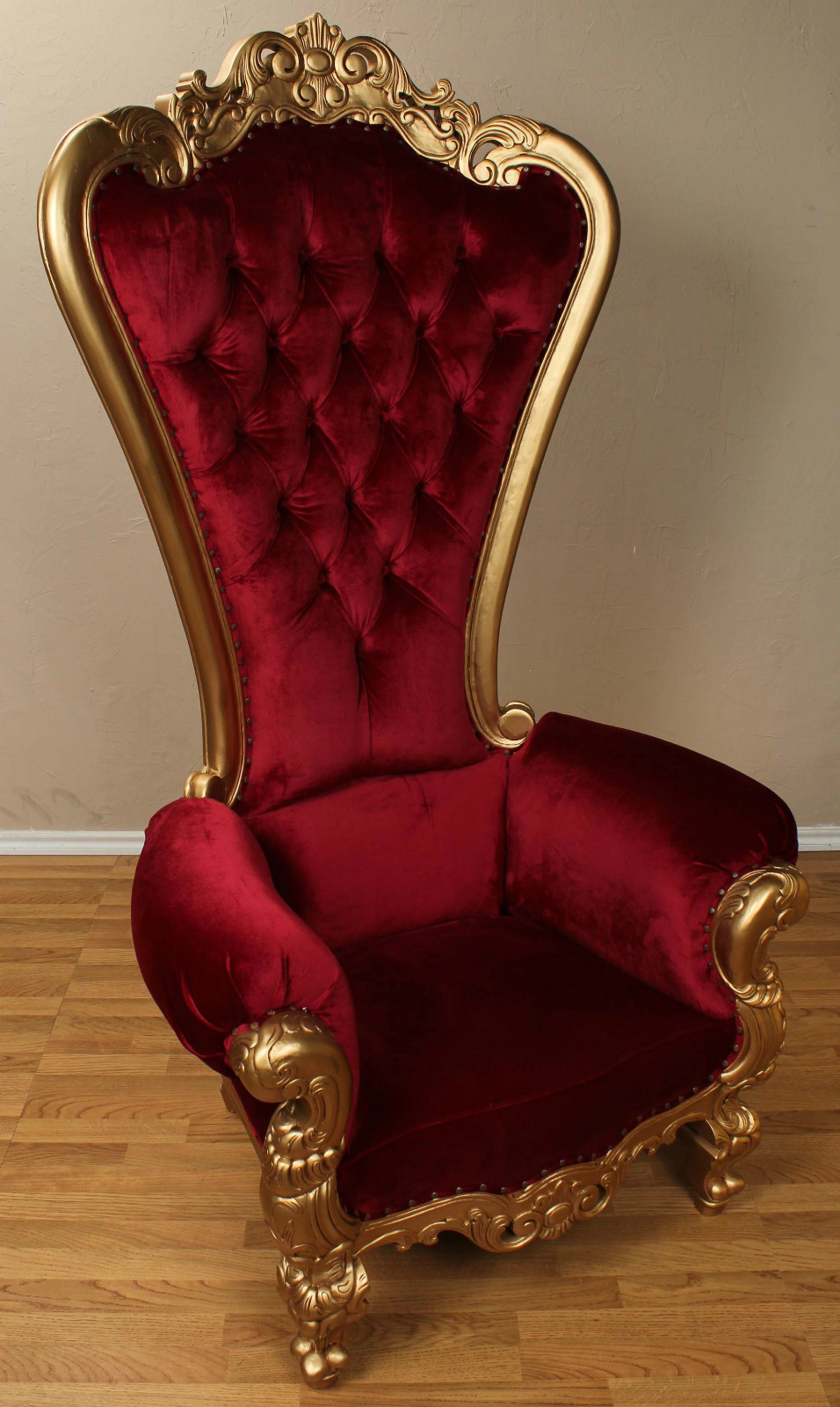 Carved Mahogany Louis XV Beregere Armchair Regal Throne Chair Gold ...