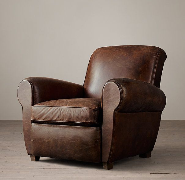 1920s Parisian Leather Club Chair Leather Club Chairs Comfy