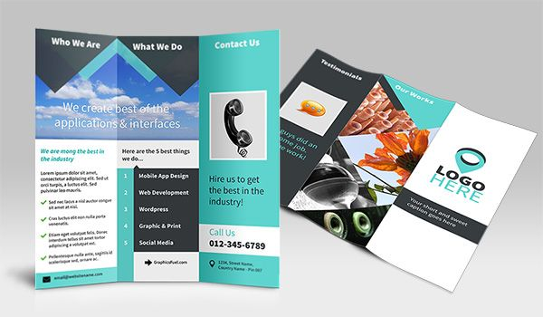 20 Best Free Photoshop Templates To Download Tri Fold Brochure