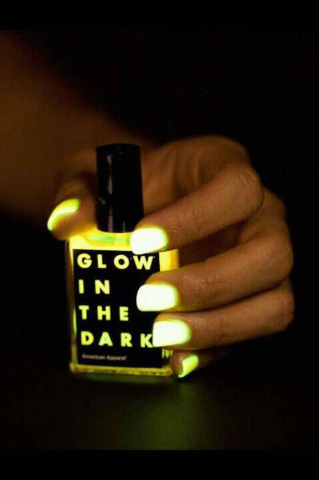 Paint your nails with glow-in-the-dark polish. | 23 Ways To Up Your Makeup Game For New Year's Eve