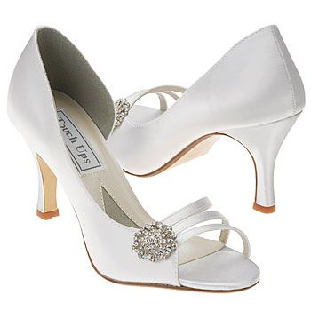 Touch Ups By Benjamin Walk Sharmain Shoes White Fabirc Women S Wedding