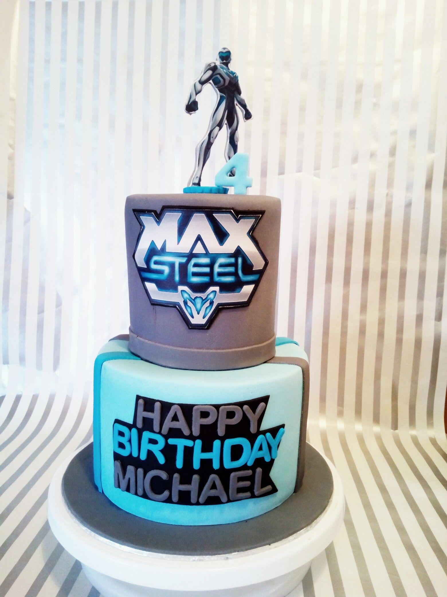 Awesome Max Steel Cake Con Imagenes Fiesta Funny Birthday Cards Online Necthendildamsfinfo