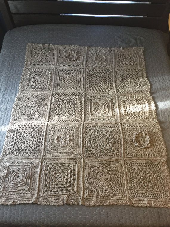 Ganchillo hecho a mano patchwork tiro   Crochet, Patchwork and Craft