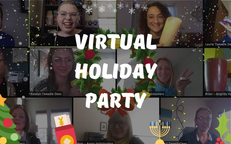 A List Of Virtual Holiday Party Ideas For Your Next Online Celebration Includes Unique Id In 2020 Work Holiday Party Holiday Work Party Ideas Office Celebration Ideas