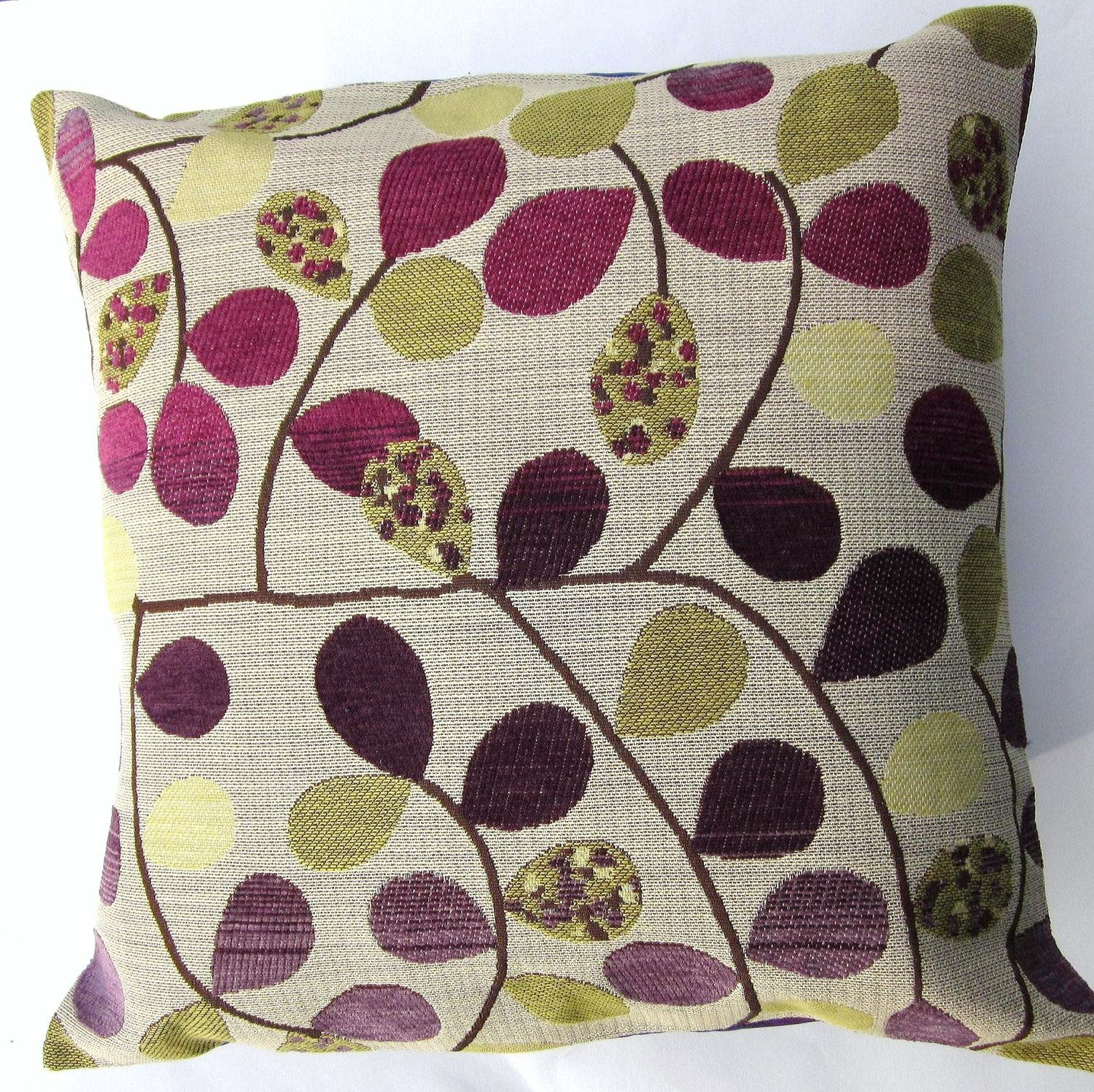 Purple pillow cover pots of purple and gold by sassypillows