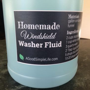 Homemade Windshield Washer Fluid and Rain Repellent • A Good Simple Life