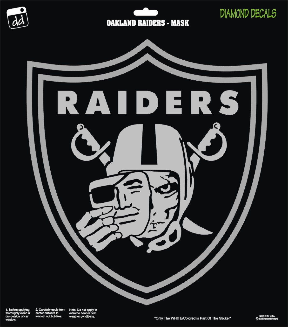 Oakland Raiders Skull Mask Shield NFL Football Decal Vinyl