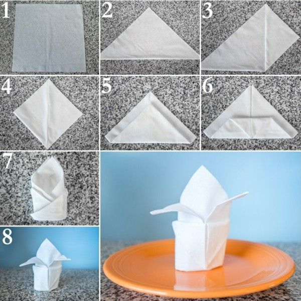 napkin folding instructions craft ideas paper napkin folding technique