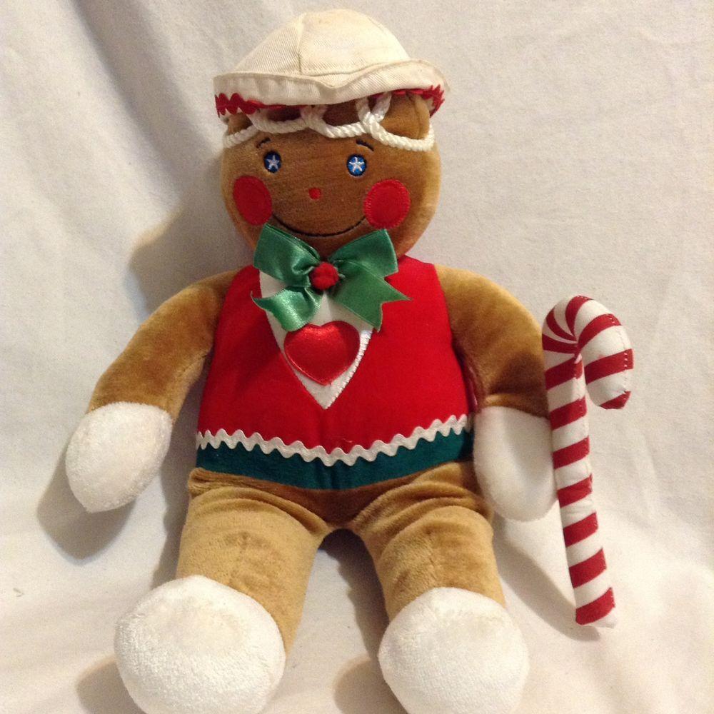 Vintage Target Plush Gingerbread Man Boy Stuffed 1990 Holiday