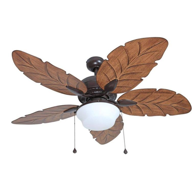 Wooden Ceiling Fan With Palm Leaf Blades Ceiling Fan With Light