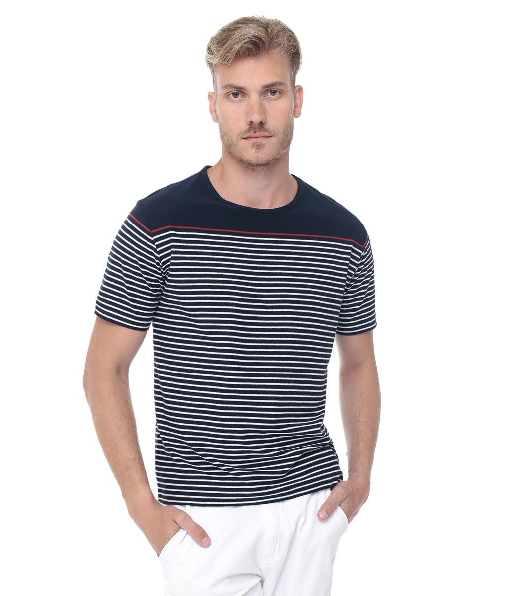42051dcef6 Camiseta Masculina Listrada - Lojas Renner Camiseta Masculina Listrada