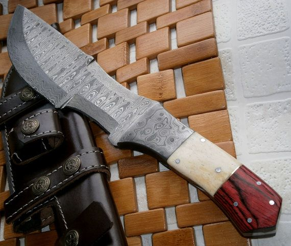 TR 115 12.00 Inches Damascus Steel Tracker Knife - Rock Solid Handle and Blade