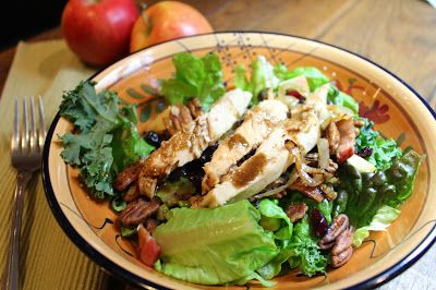 Harvest Chicken Salad with Sweet Balsamic Dijon Dressing   Food L'amor   Gluten Free and Paleo Recipes by Melissa