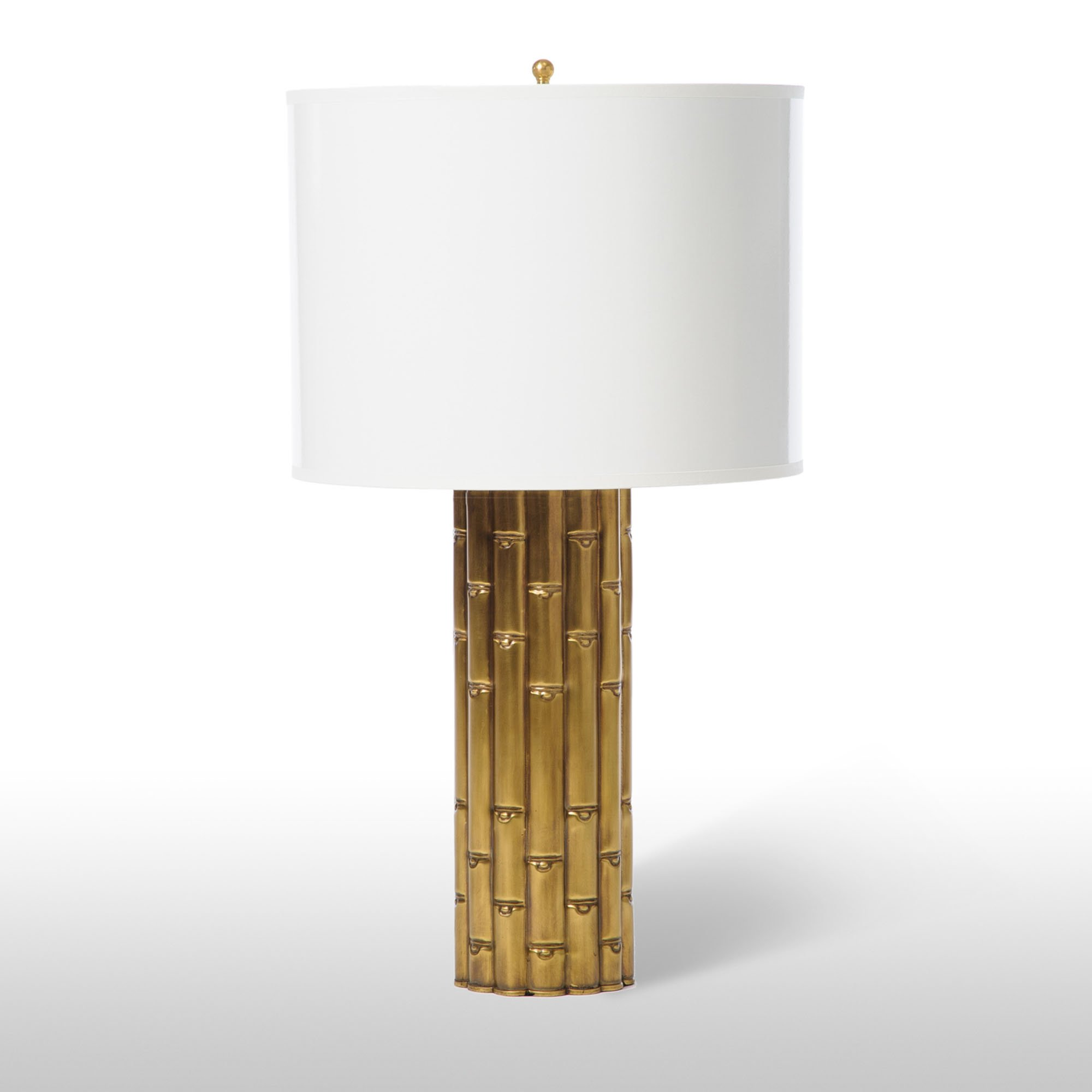 Bamboo Transitional Tall Table Lamp Brass En 2019