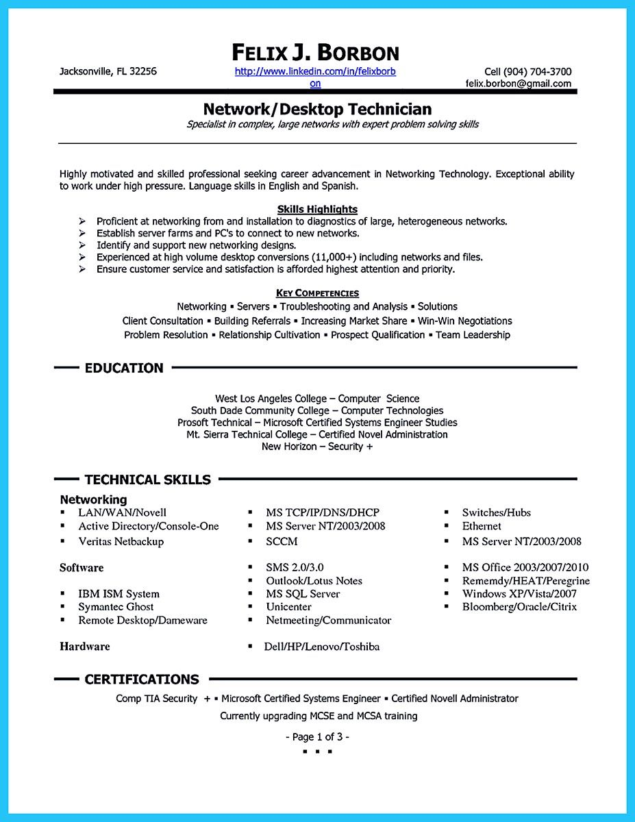 How To Make Cable Technician Resume That Is Really Perfect Resume Skills Resume Examples Job Resume Samples