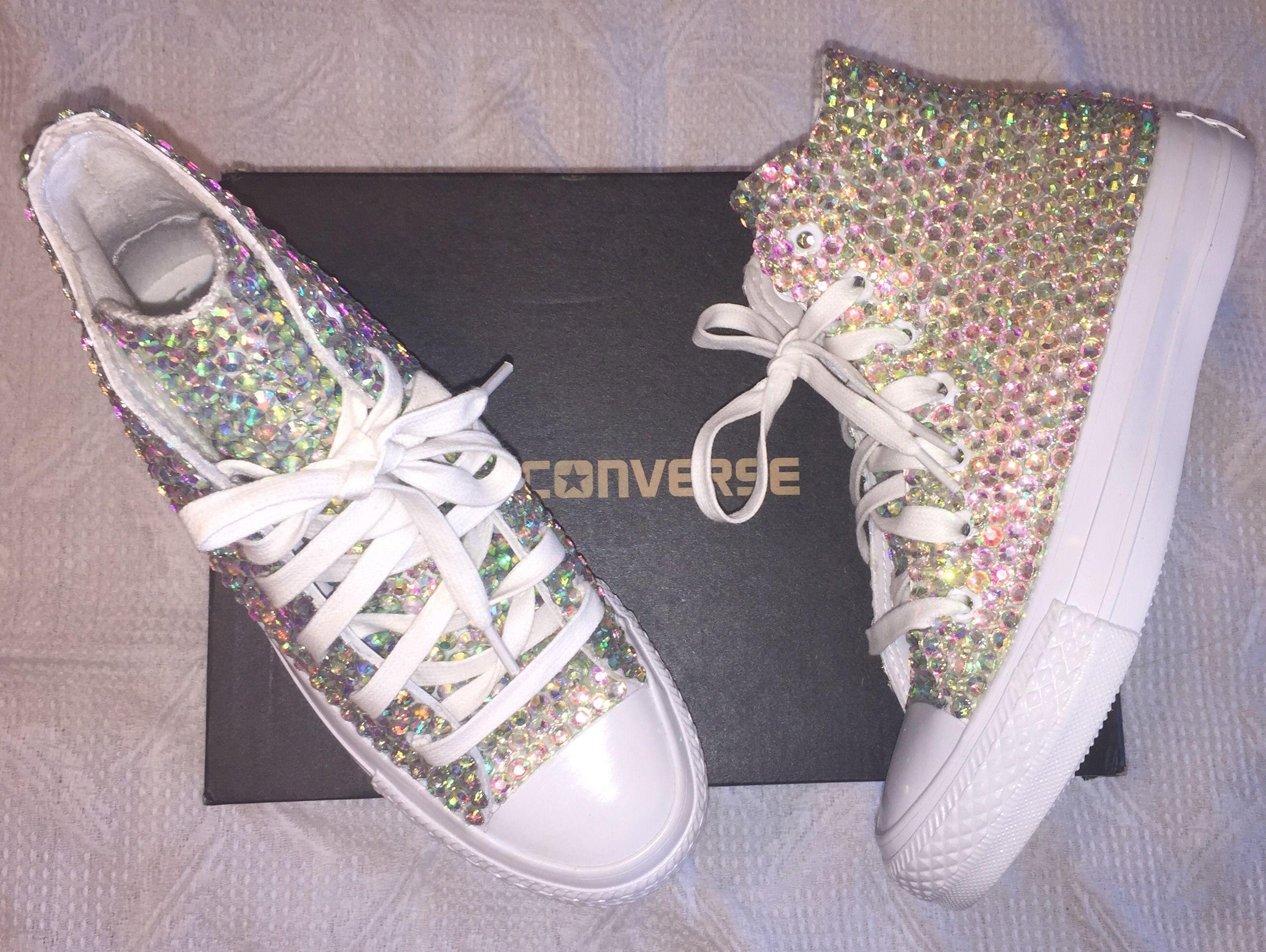 Custom pearls   diamond converse so many styles all sizes! FREE shipping  worldwide usa code