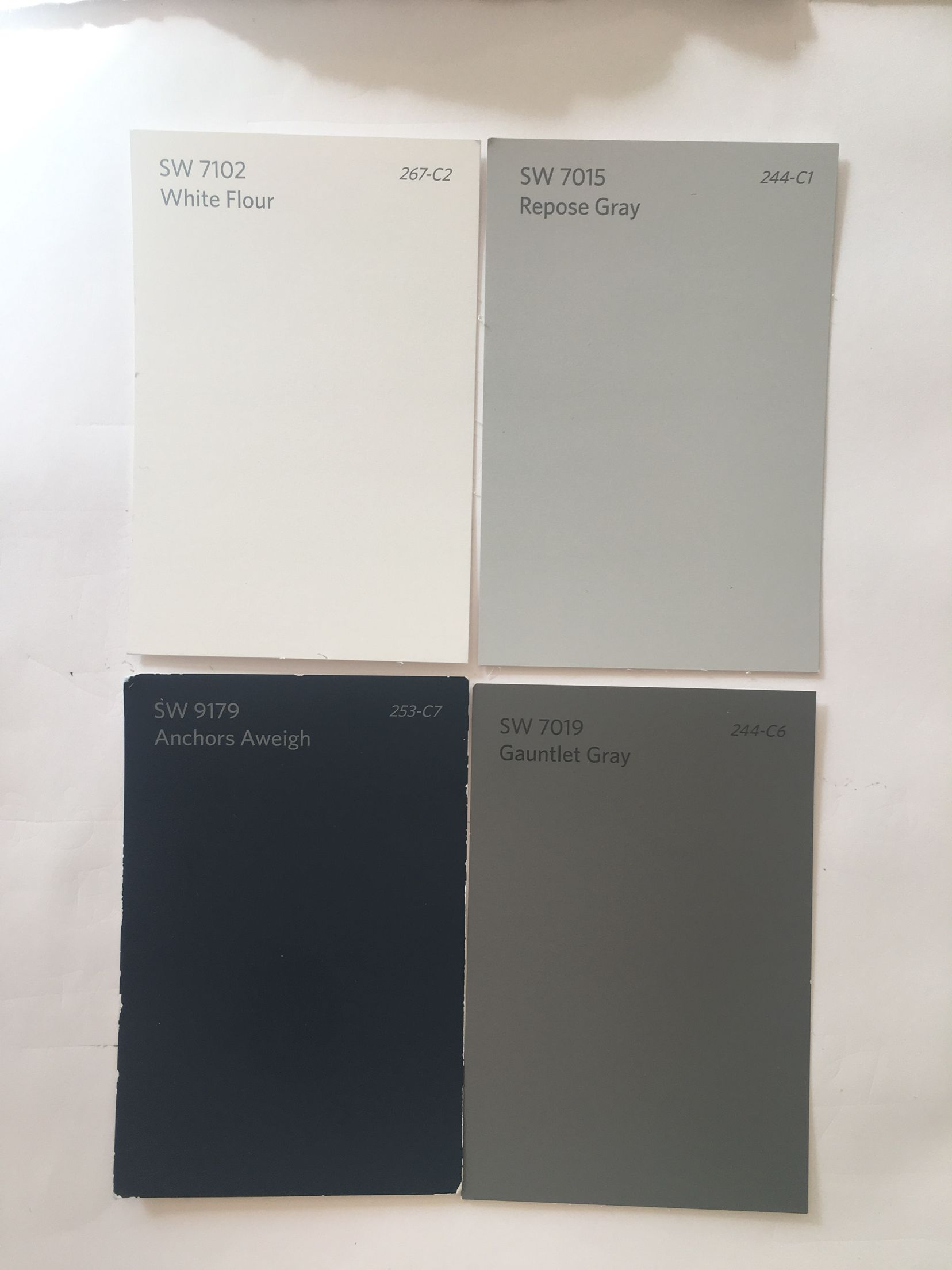 My Exterior Paint Choices Top Left Is Trim Top Right