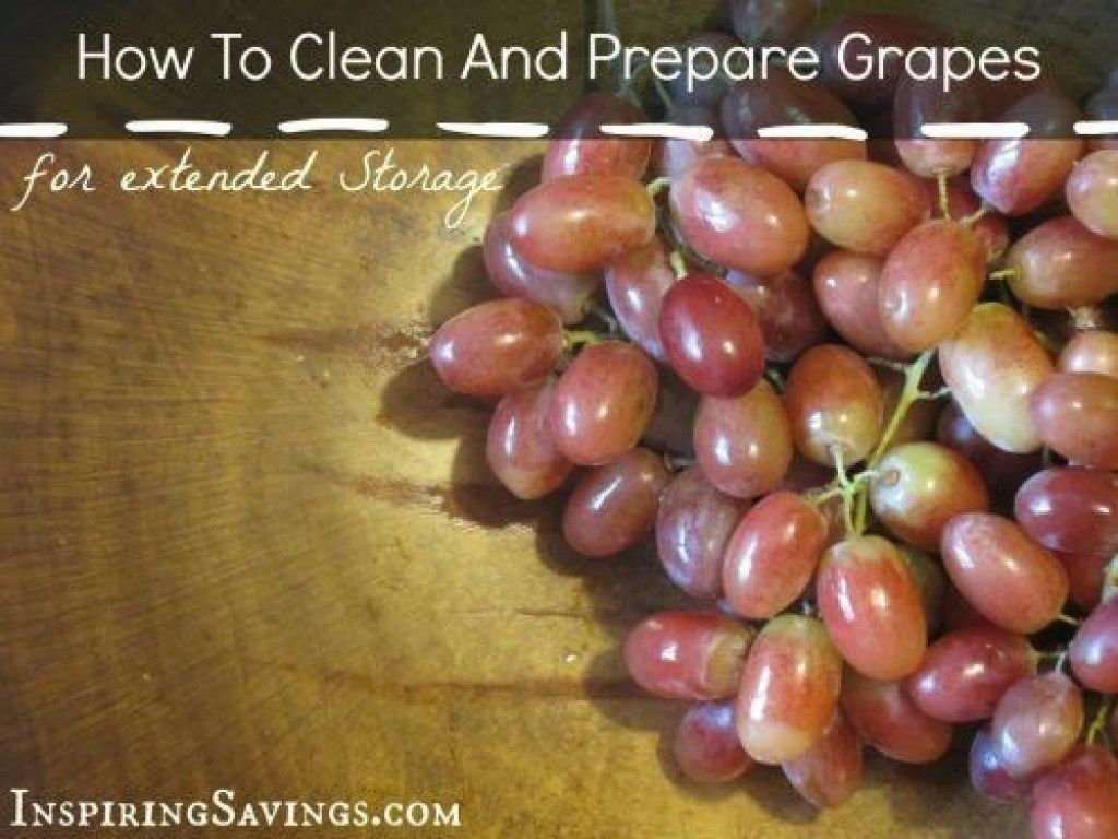 Clean And Prepare Fresh Grapes Keep Grapes Fresh Longer