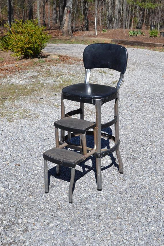 Fabulous Vintage Cosco Kitchen Stool Metal Folding Step Stool Chair Ocoug Best Dining Table And Chair Ideas Images Ocougorg