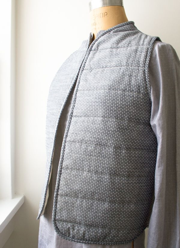 Quilted Vest | Purl bee, Craft patterns and Bees