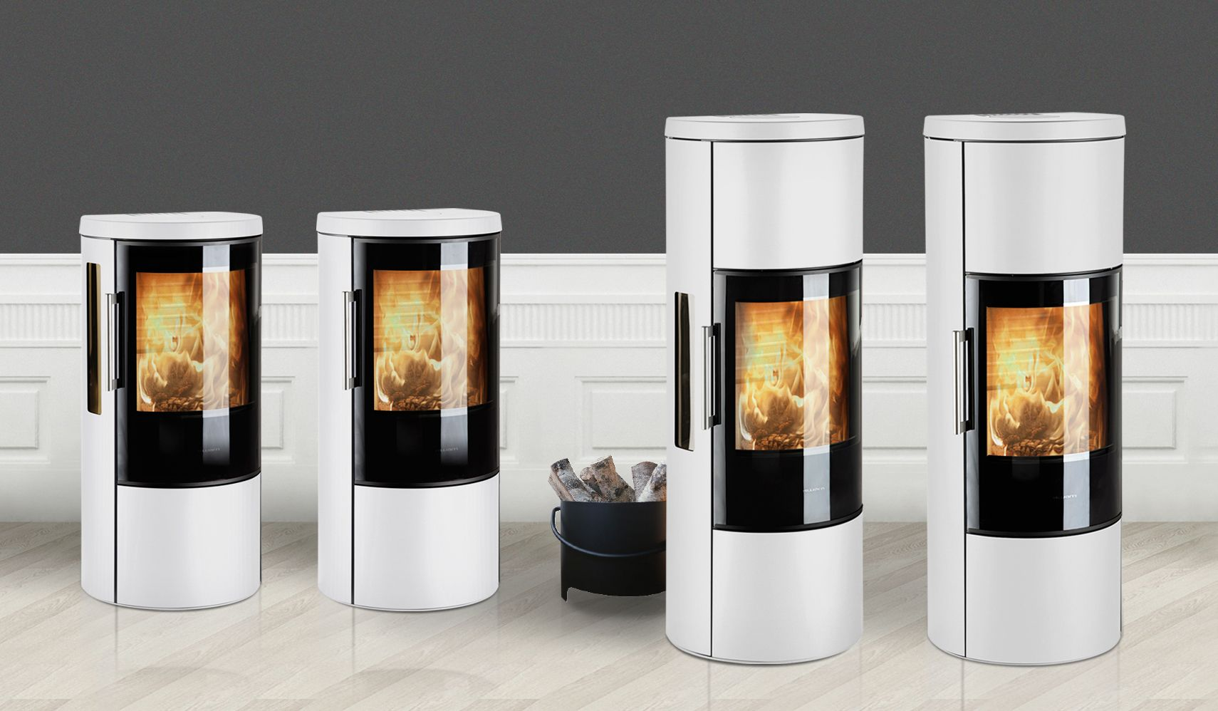 Poele Pellet Koppe 3600 Stoves In White Cooperation With Hwam Sørig Products