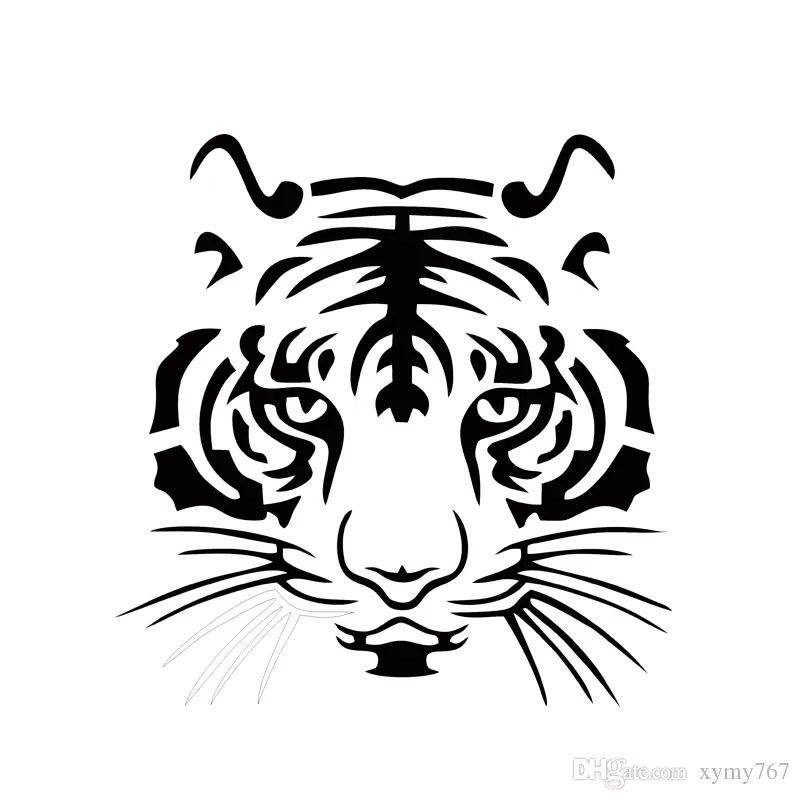 Hot Sale Cool Graphicscar Vinyl Decal Sticker Big Cat Tiger Face Car Stying Reflective Stickers Jdm 19 19 5cm Tiger Silhouette Tiger Head Tattoo Tiger Tattoo
