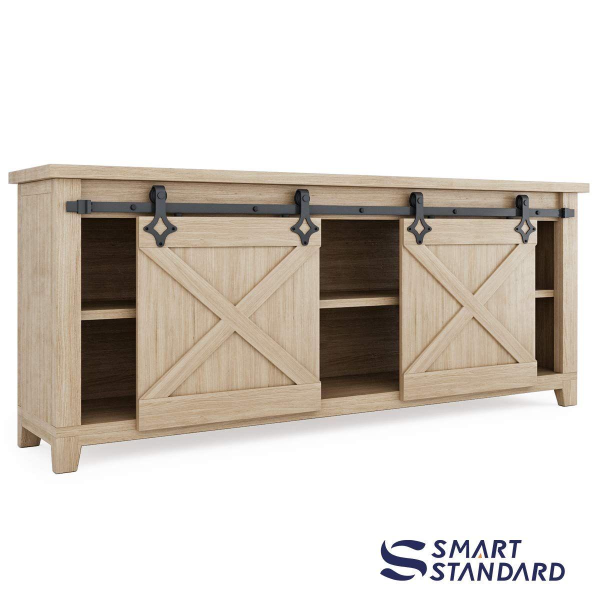 Amazon Com 7ft Double Door Cabinet Barn Door Hardware Kit Mini