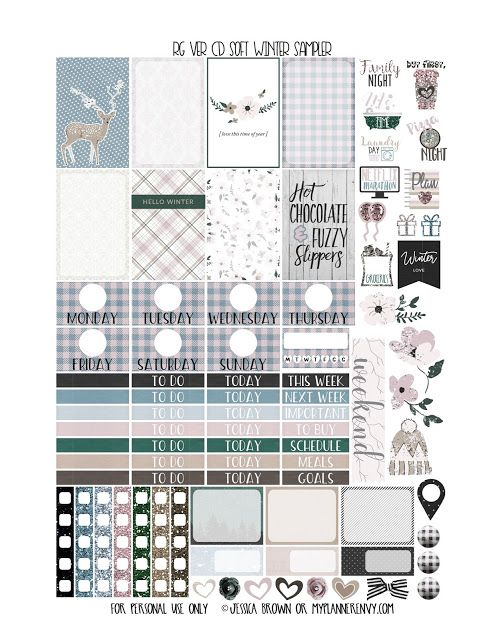 Free Printable Soft Winter Sampler for the Reset Girl Carpe