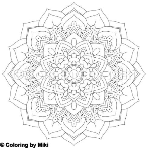 Flower Mandala Coloring Page 56