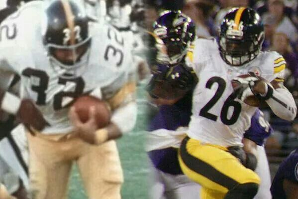 Franco Harris & Le'Veon Bell - Steelers will always commit to the running game.