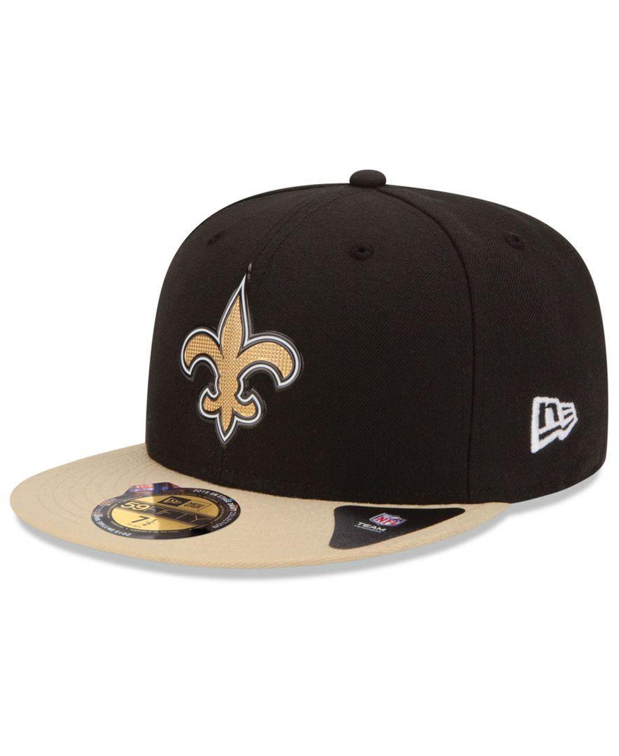 52eb89b3ca1 New Era New Orleans Saints 2015 Nfl Draft 59FIFTY Cap